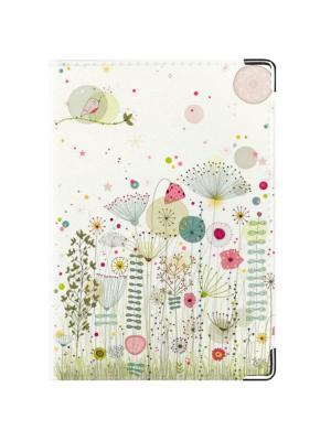 Обложка для паспорта Summer mood Tina Bolotina. Цвет: салатовый, розовый