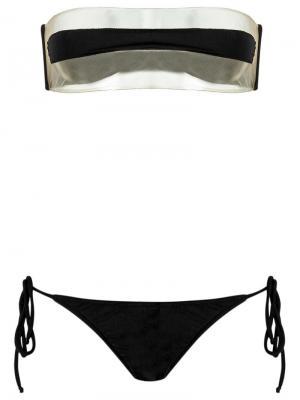 Прозрачное бикини Adriana Degreas. Цвет: чёрный