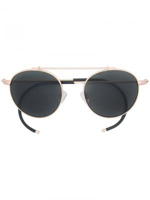 Солнцезащитные очки XOA Epøkhe. Цвет: металлический