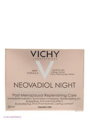 Компенсирующий комплекс ночной уход для кожи в период менопаузы, 50 мл VICHY. Цвет: белый