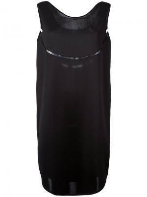 Платье шифт с вырезной деталью Gianluca Capannolo. Цвет: чёрный