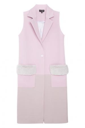 Жилет T-Skirt. Цвет: розовый