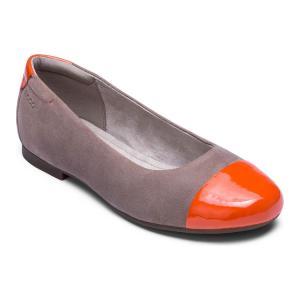 Балетки ECCO. Цвет: оранжевый