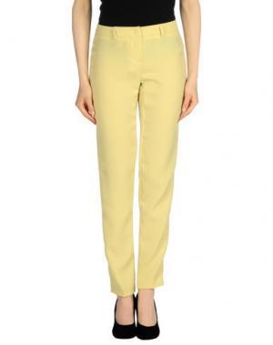 Повседневные брюки TO-MAY. Цвет: желтый