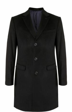 Однобортное пальто из смеси шерсти и кашемира Sand. Цвет: черный