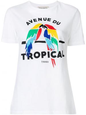Футболка Avenue du Tropical Être Cécile. Цвет: белый