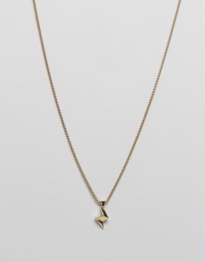 Vitaly Золотистое ожерелье с подвеской в виде молнии Strejx. Цвет: золотой