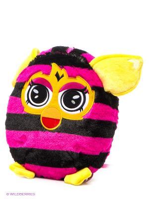 Плюшевая подушка Furby. Цвет: фуксия, желтый, черный