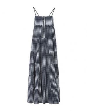 Длинное платье LIU •JO JEANS. Цвет: темно-синий