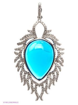 Подвеска Art Silver. Цвет: серебристый, голубой