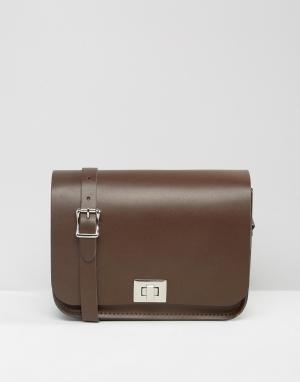 Leather Satchel Company Сумка через плечо. Цвет: коричневый