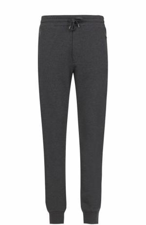 Хлопковые джоггеры с карманами Dolce & Gabbana. Цвет: серый