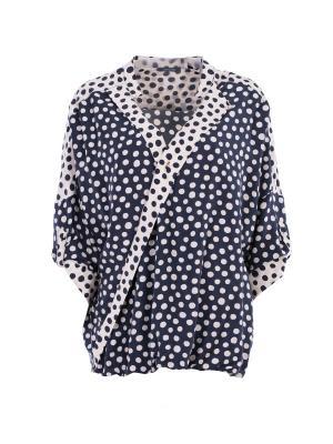 Блуза Elena Miro. Цвет: темно-синий
