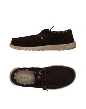 Обувь на шнурках HEY DUDE. Цвет: темно-коричневый