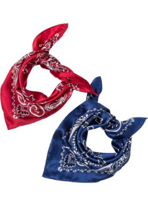 Бандана (2 шт.) (синий/белый/красный) bonprix. Цвет: синий/белый/красный