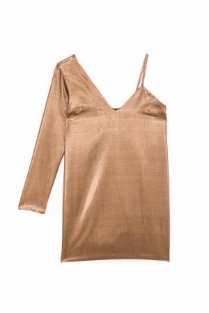 Шелковое платье Mila American Retro. Цвет: медный