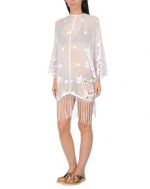 Пляжное платье MIGUELINA. Цвет: белый