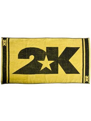 Полотенце махровое 2K. Цвет: желтый, черный