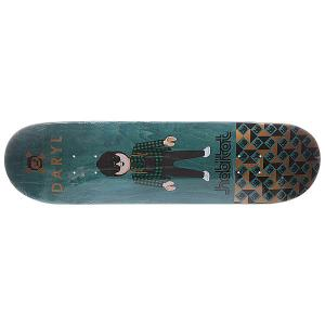 Дека для скейтборда  S5 Angel Miniatures 32.5 x 8.25 (21 см) Habitat. Цвет: зеленый,мультиколор