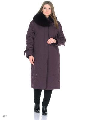 Пальто Трини VIKO. Цвет: бордовый