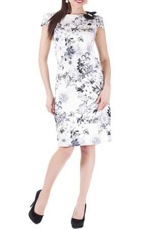 Платье Mannon. Цвет: бело-черные цветы