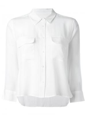 Укороченная рубашка на пуговицах Equipment. Цвет: белый