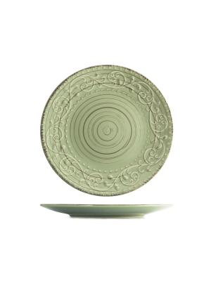Набор тарелок обеденных ПАТИО H&H. Цвет: зеленый