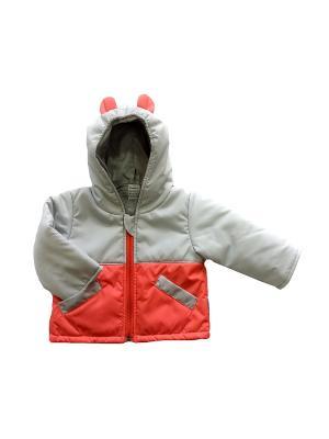 Куртка Микки Дашенька. Цвет: коралловый, серый