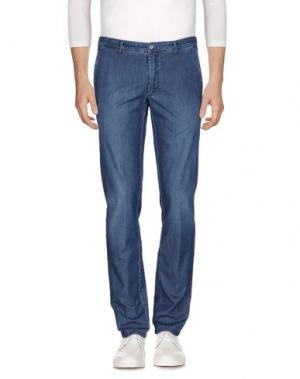 Джинсовые брюки DOMENICO TAGLIENTE. Цвет: синий