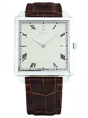Часы ювелирные коллекция Q-Four, QWILL, Часовой завод Ника QWILL. Цвет: белый