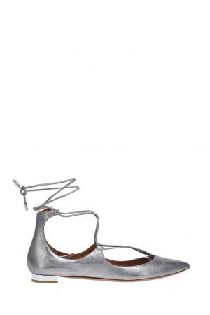 Кожаные туфли Christy Flat Aquazzura. Цвет: none
