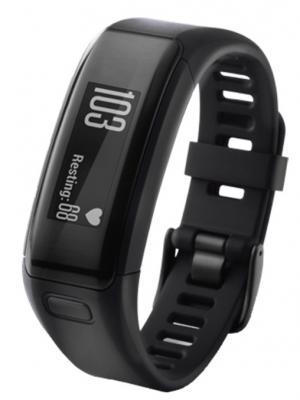 Смарт-часы vivosmart HR Black Large GARMIN. Цвет: черный
