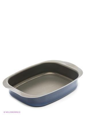Форма для выпечки прямоугольная алюминиевая с антипригарным покрытием 30х23х6 см Metalac Posude. Цвет: синий