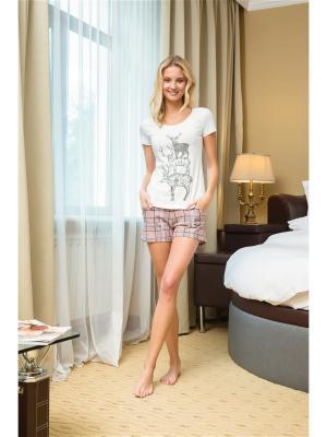Комплект (футболка и шорты) NicClub. Цвет: розовый