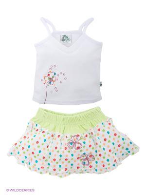 Комплект FS Confeccoes. Цвет: белый, светло-зеленый