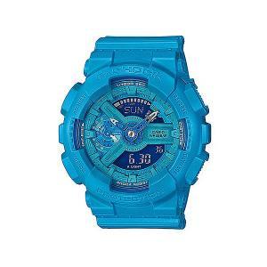Электронные часы Casio G-shock Gma-s110vc-2a. Цвет: голубой