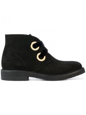 Высокие ботинки с крупными люверсами Rupert Sanderson. Цвет: чёрный