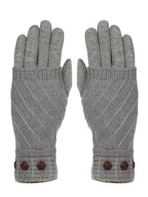 Перчатки с митенками Pretty Mania. Цвет: серый