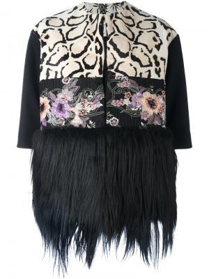 Пиджак с меховой отделкой Antonio Marras. Цвет: чёрный