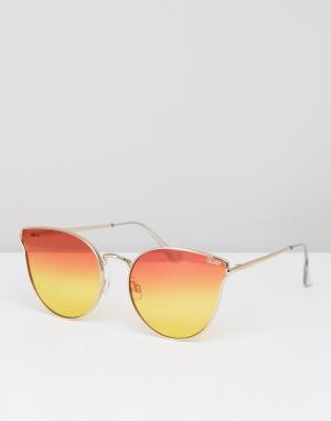 Quay Australia Солнцезащитные очки All My Love. Цвет: оранжевый