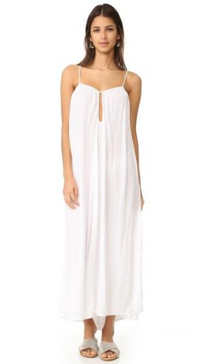 Макси-платье Positano с каплевидным вырезом 9seed. Цвет: белый
