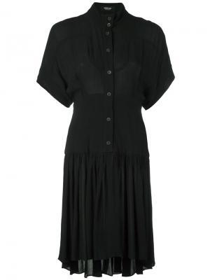 Платье шифт на пуговицах Rachel Comey. Цвет: чёрный