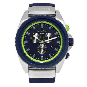 Часы  Rover Chrono Midnight Blue/Volt Green Nixon. Цвет: серый,синий