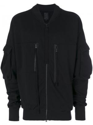 Куртка в рабочем стиле Thom Krom. Цвет: чёрный