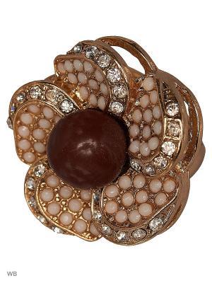 Кольцо AVGAD. Цвет: коричневый