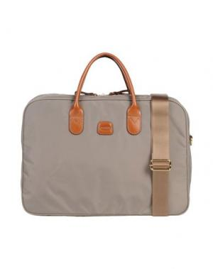 Деловые сумки BRIC'S. Цвет: серый