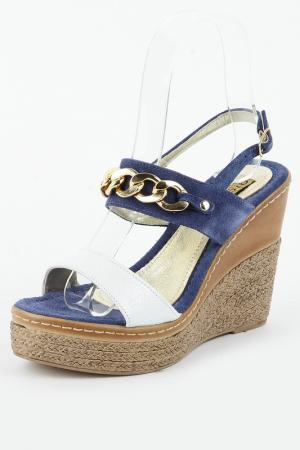 Туфли Gioie Italiane. Цвет: белый, синий