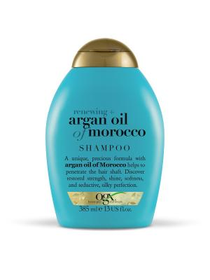Шампунь для восстановления волос с аргановым маслом OGX. Цвет: белый