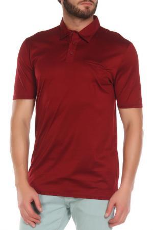 Рубашка-поло Z Zegna. Цвет: бордовый