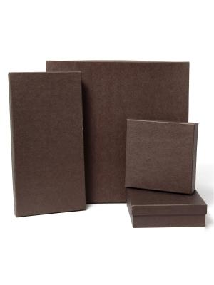 Коробка крафт, набор из 4 Шоколад VELD-CO. Цвет: коричневый